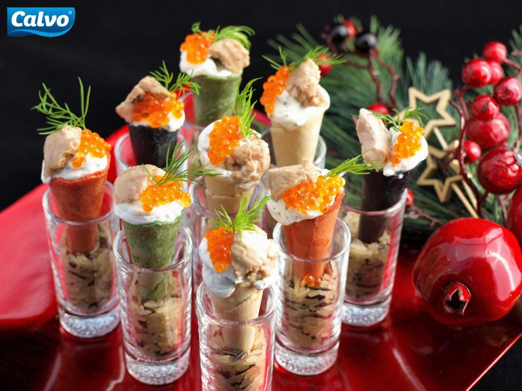Gourmet tuniakové kornútiky