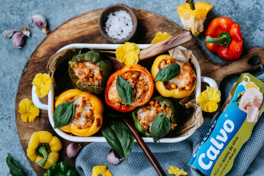Plnené papriky stuniakom, cícerom aryžou